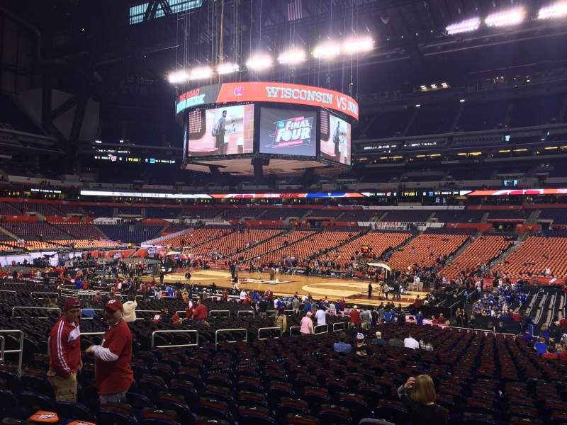 Seating view for Lucas Oil Stadium Section 110