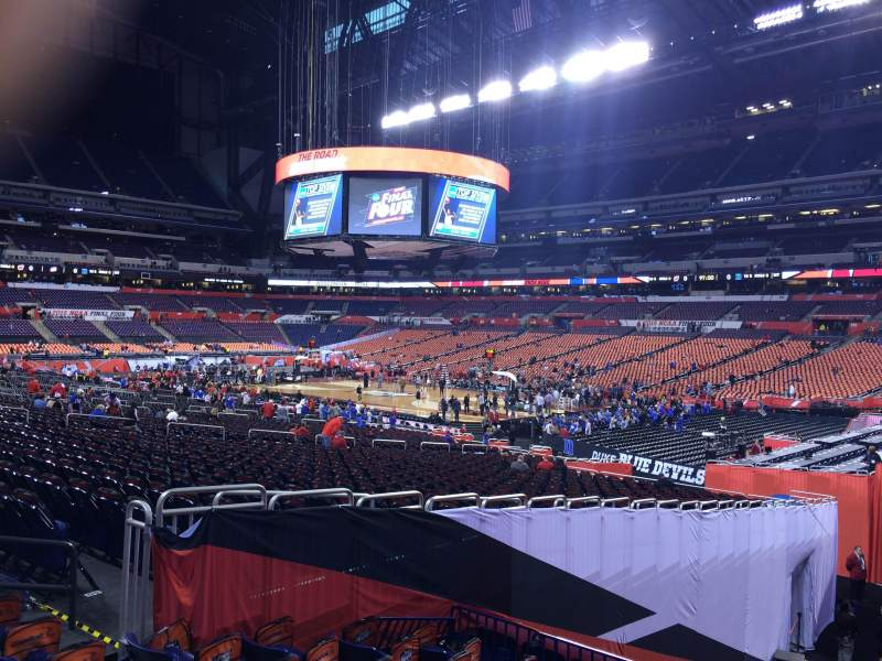 Seating view for Lucas Oil Stadium Section 108 Row SS