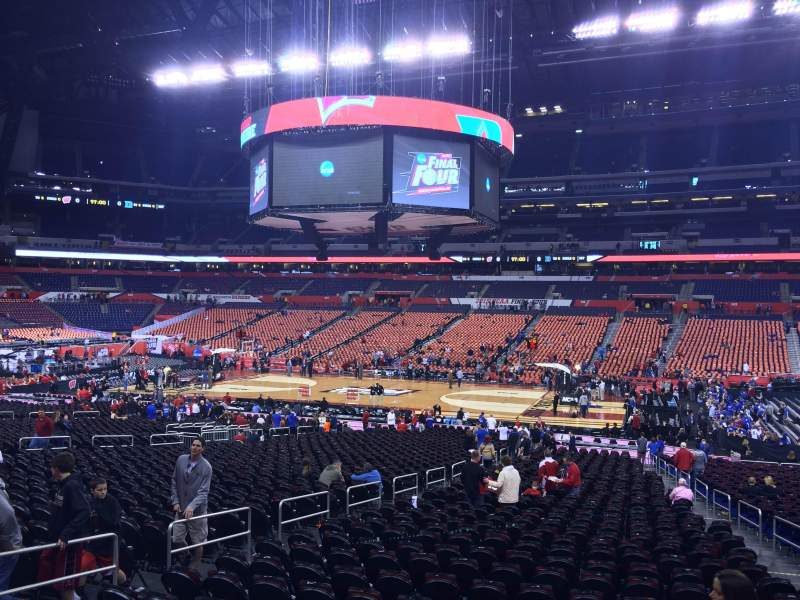 Seating view for Lucas Oil Stadium Section 111 Row OO