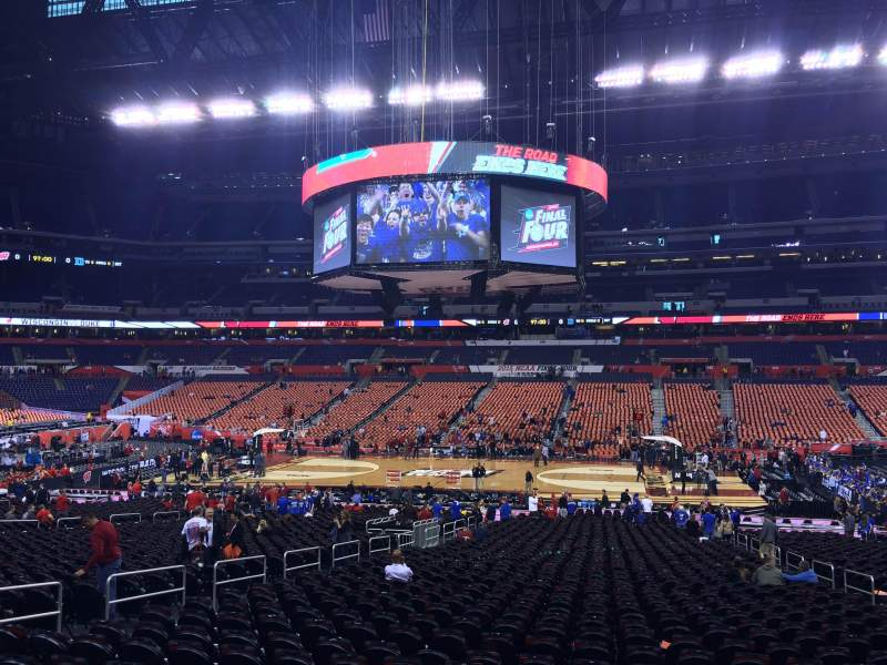 Seating view for Lucas Oil Stadium Section 112