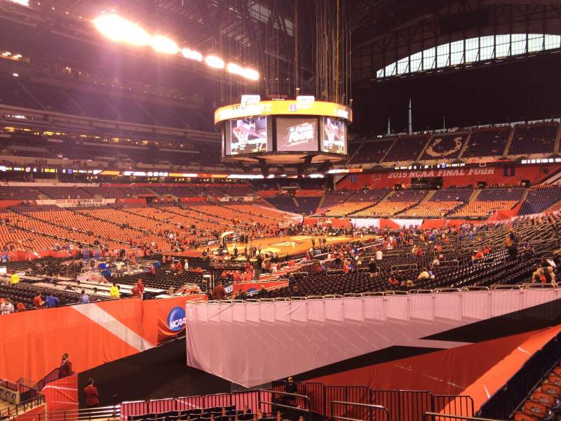 Seating view for Lucas Oil Stadium Section 118