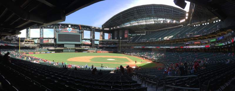 Seating view for Chase Field Section 128 Row 36 Seat 3