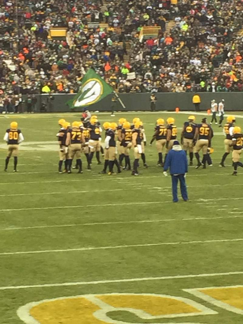 Seating view for Lambeau Field Section 138 Row 8 Seat 13