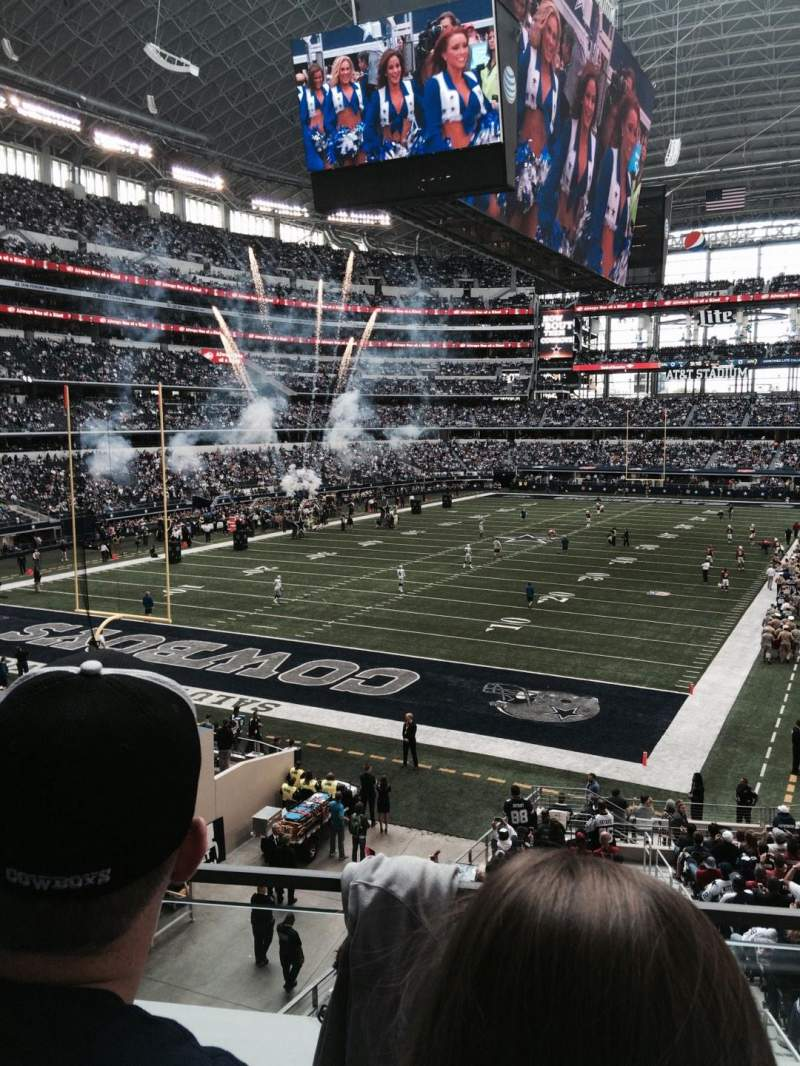 Seating view for AT&T Stadium Section 244 Row 2 Seat 20