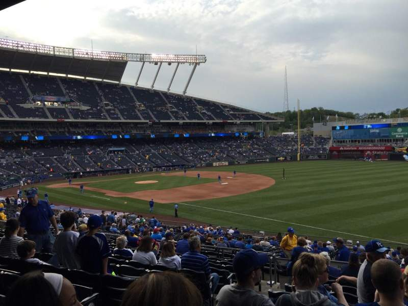 Seating view for Kauffman Stadium Section 243 Row LL Seat 3