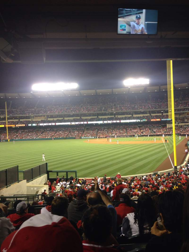 Seating view for Angel Stadium Section 201 Row G Seat 4