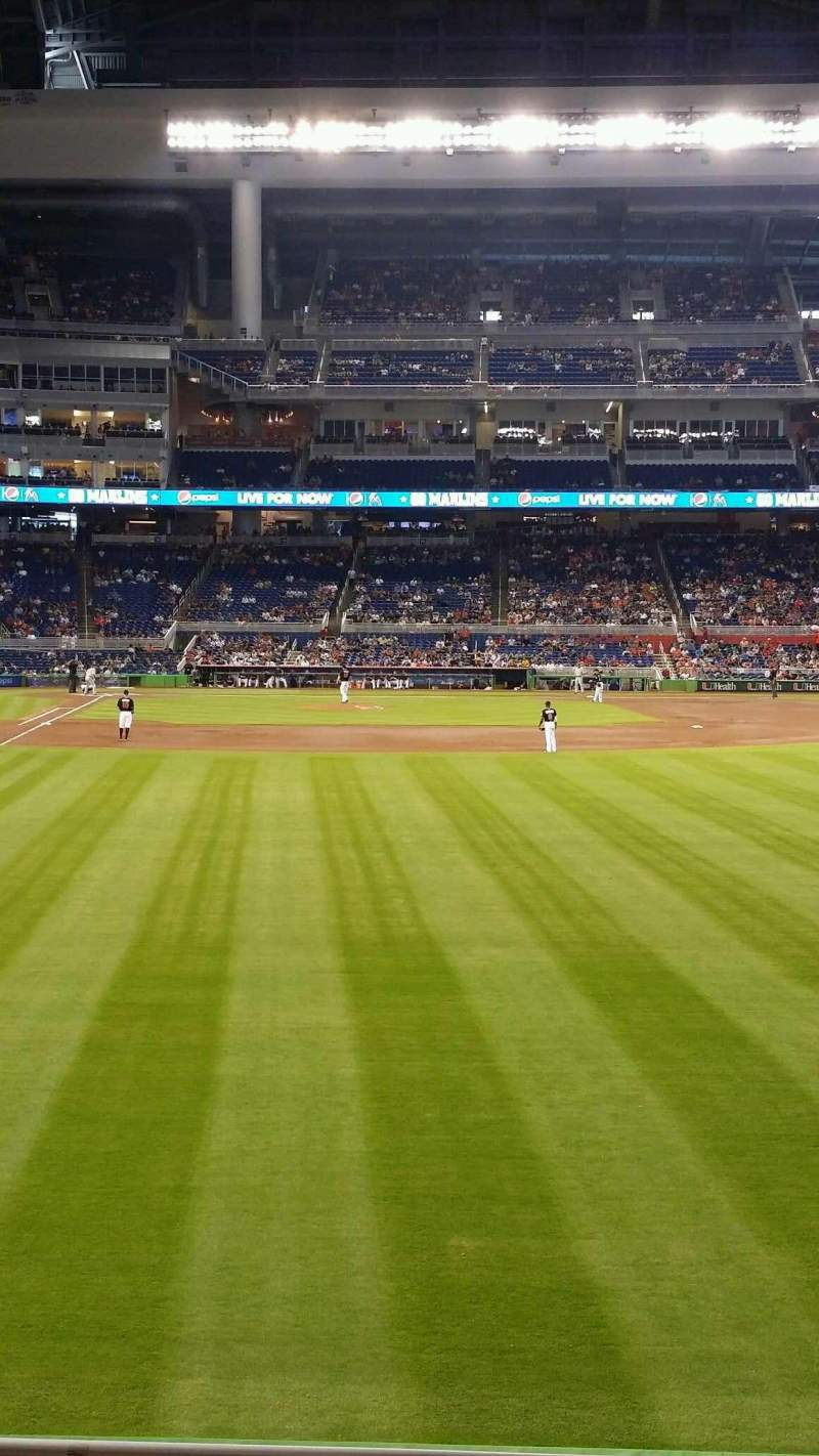 Seating view for Marlins Park Section 40 Row D Seat 17