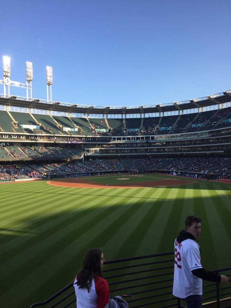 Seating view for Progressive Field Section 184 Row E Seat 7