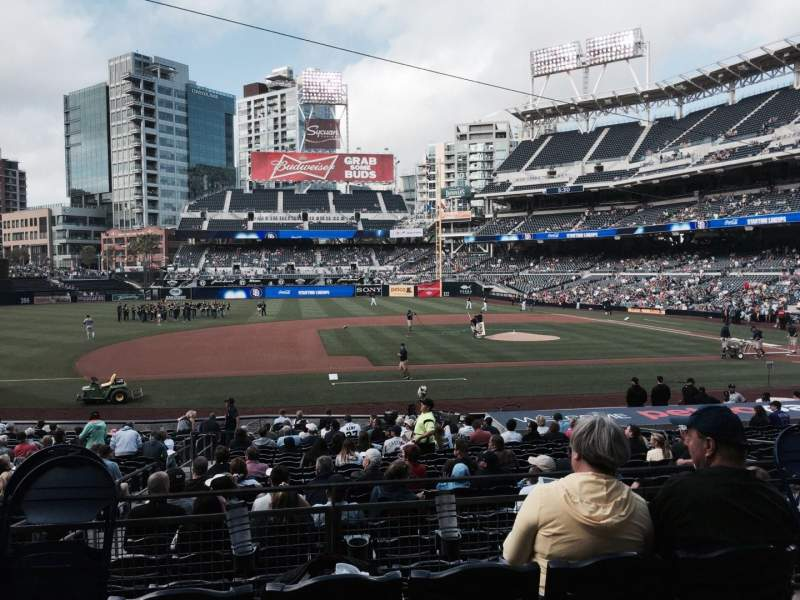 Seating view for PETCO Park Section 110 Row 26 Seat 13