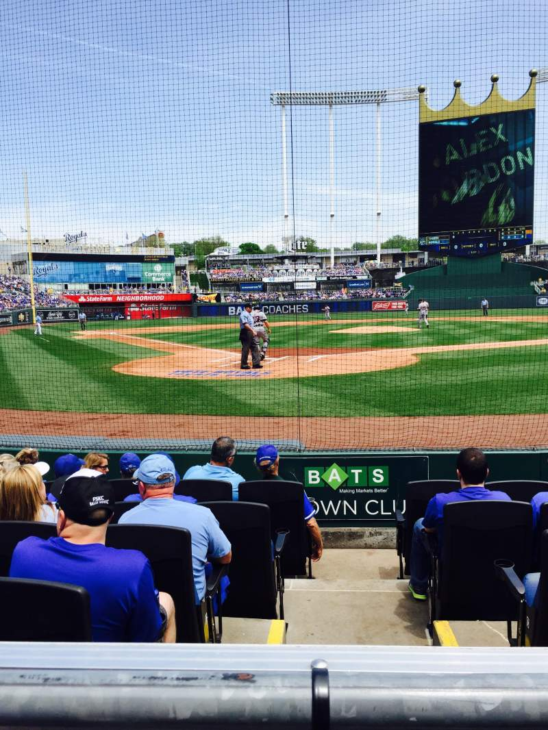 Seating view for Kauffman Stadium Section 129 Row A Seat 4