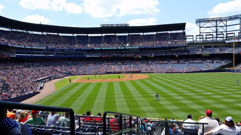 Seating view for turner field Section 237r Row 9 Seat 1