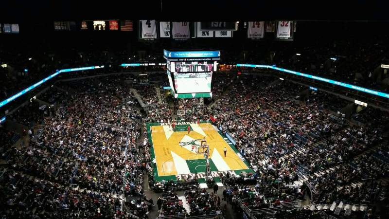 Seating view for BMO Harris Bradley Center Section 412 Row T Seat 13