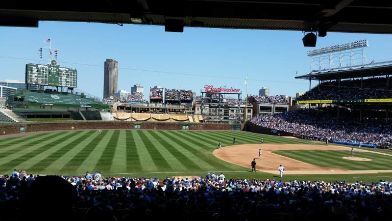 Seating view for Wrigley Field Section 209 Row 12 Seat 110