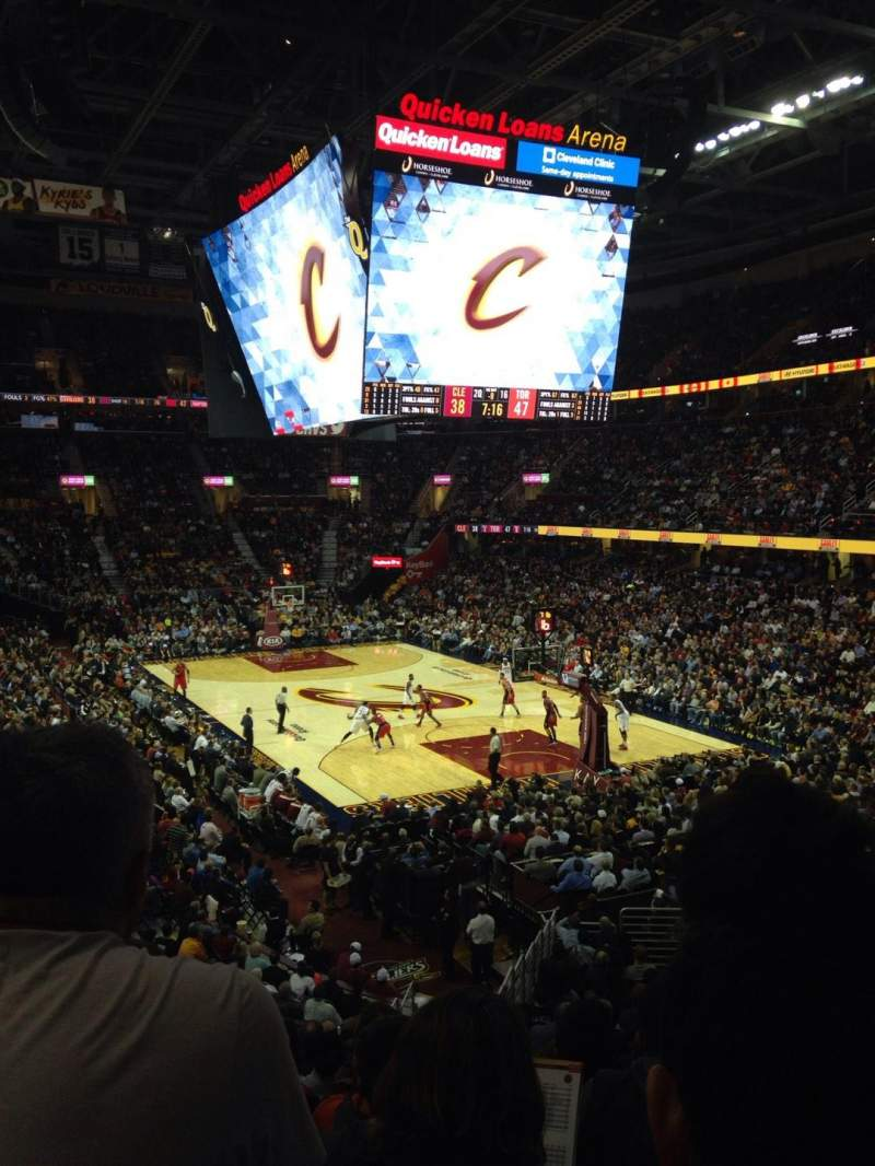 Seating view for Quicken Loans Arena Section 131 Row 20 Seat 9