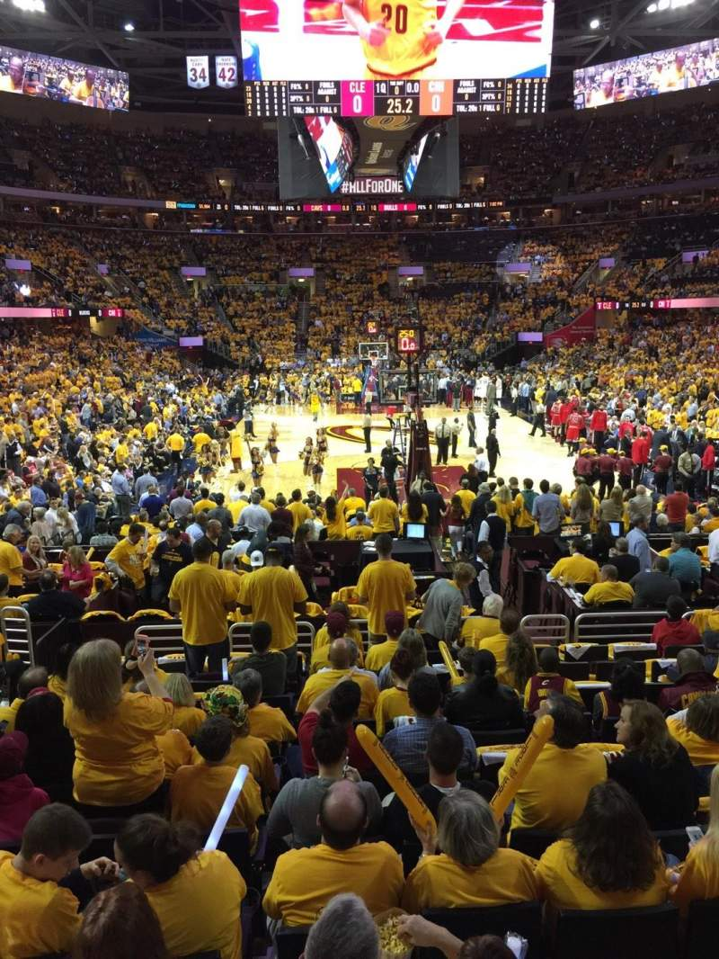 Seating view for Quicken Loans Arena Section 117 Row 11 Seat 8