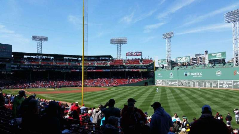 Seating view for Fenway Park Section Right Field Box 92 Row TT Seat 5