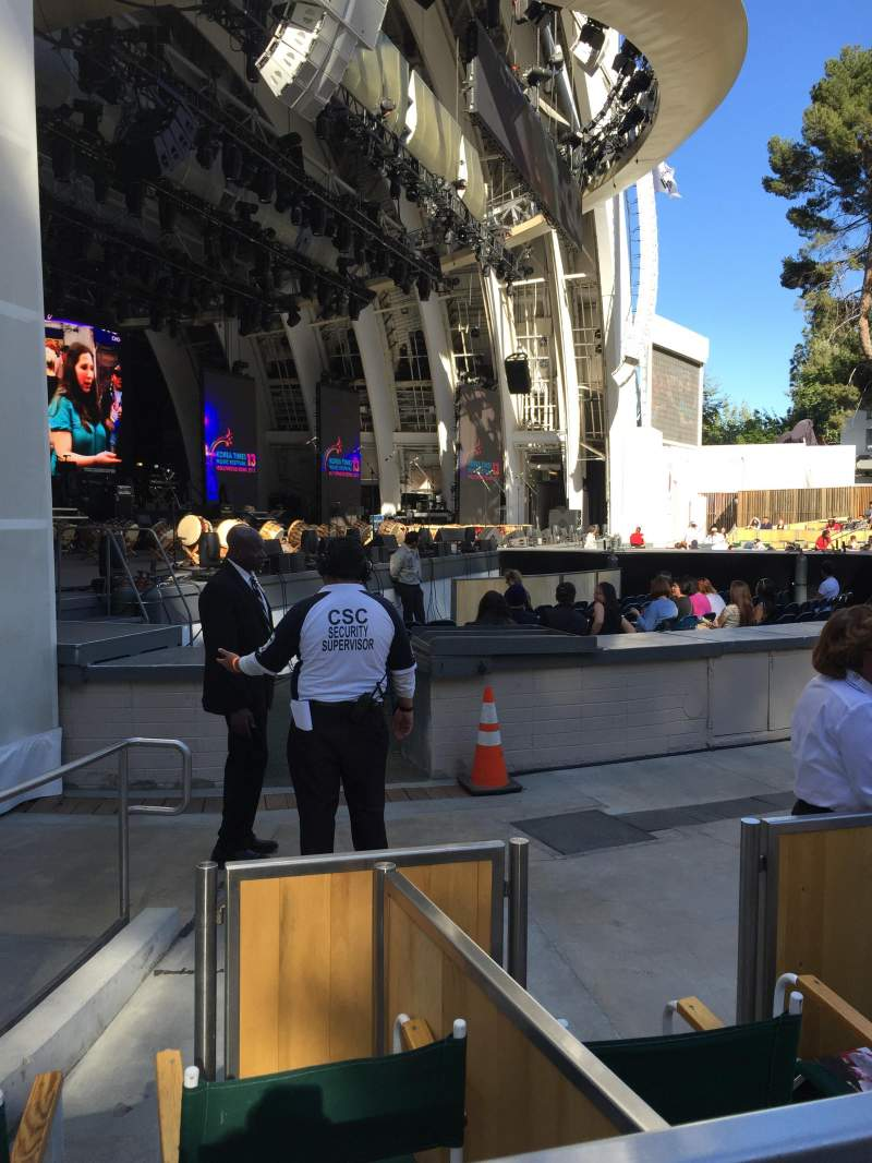 Seating view for Hollywood Bowl Section Ramp E Row 1 Seat 7
