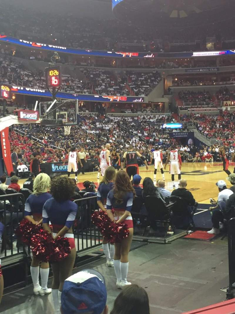 Seating view for Capital One Arena Section 108 Row C Seat 6