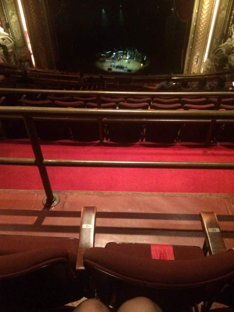 Seating view for Wang Theatre Section BALCRC Row U Seat 10