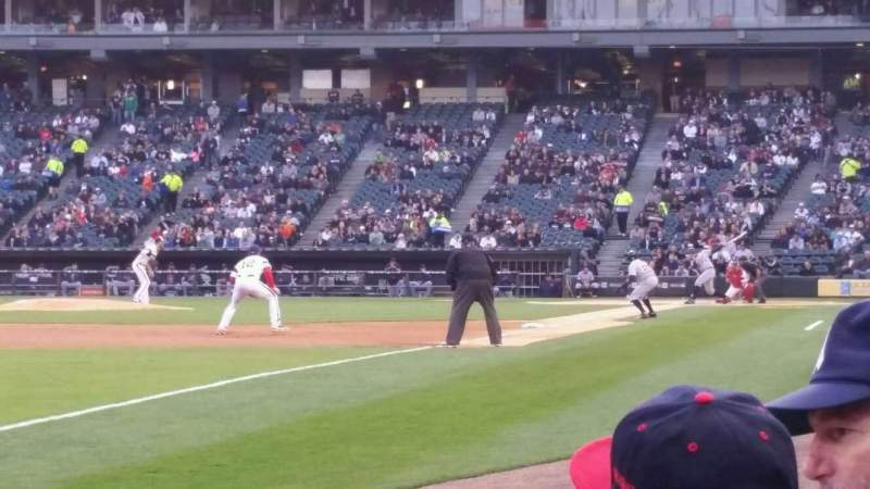 Seating view for Guaranteed Rate Field Section 150 Row 1 Seat 4