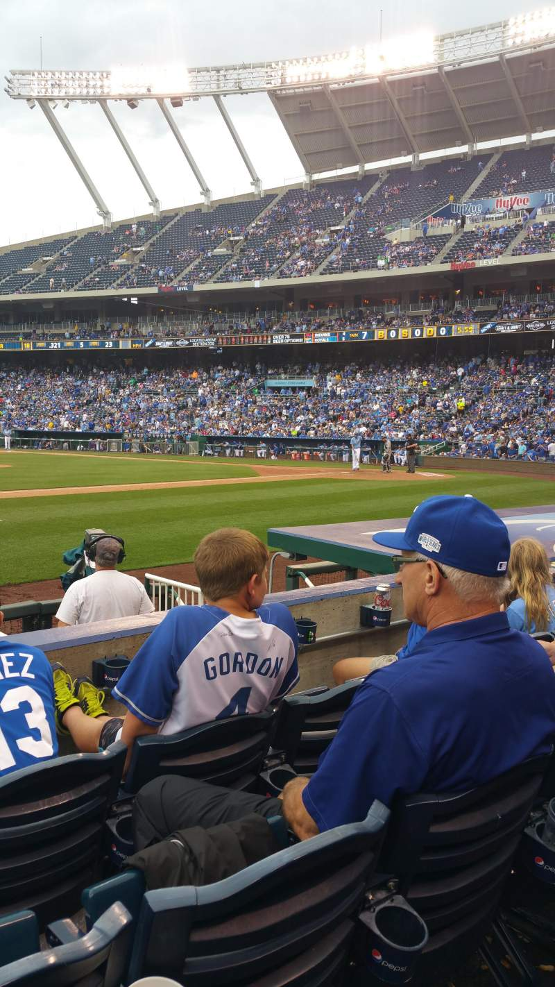 Kauffman Stadium Section 119 Row C Kansas City Royals Vs