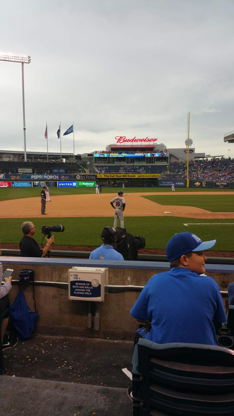 Seating view for Kauffman Stadium Section 119 Row C