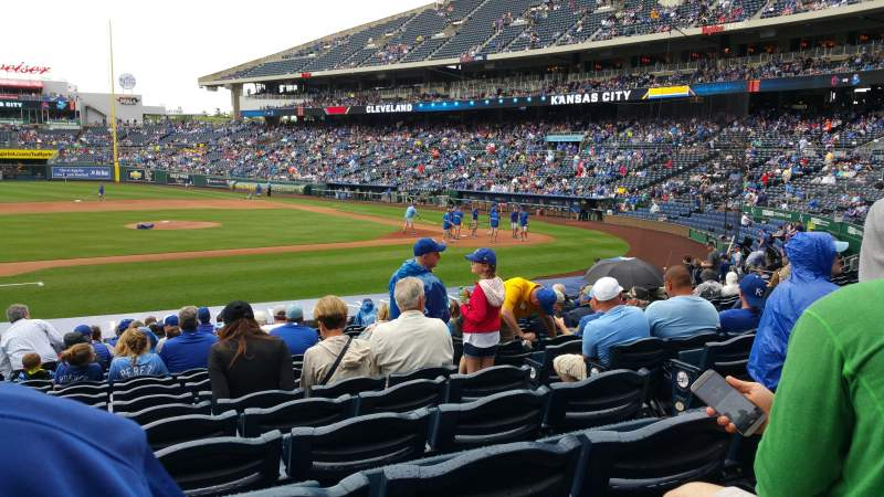 Seating view for Kauffman Stadium Section 120 Row S Seat 6