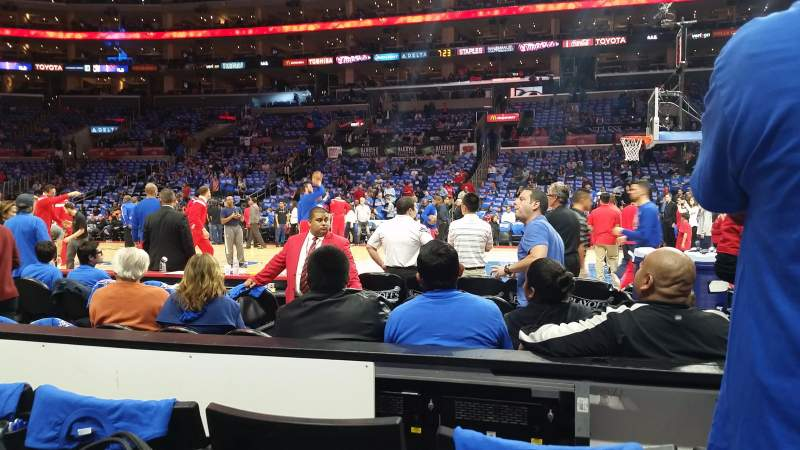 Seating view for Staples Center Section 119 Row 3 Seat 10