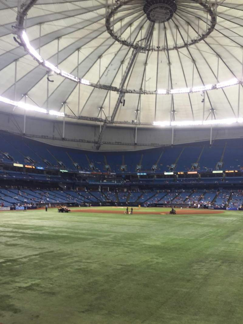 Seating view for Tropicana Field Section 150 Row G Seat 10