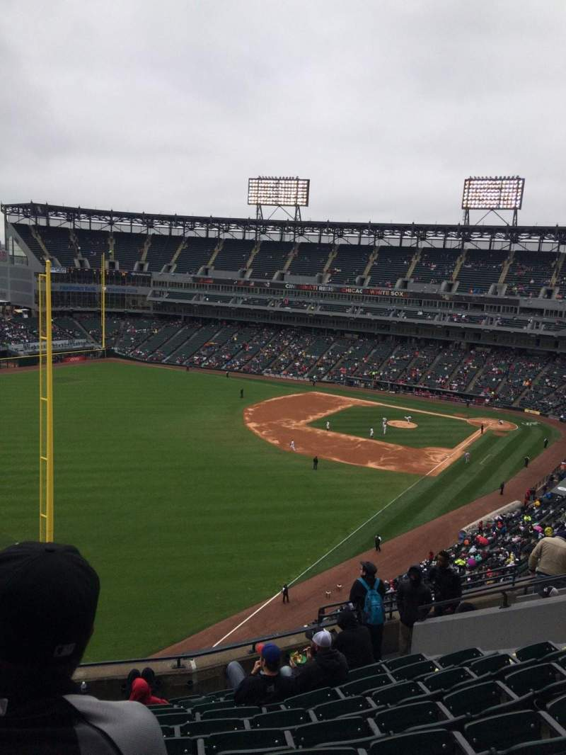 Seating view for Guaranteed Rate Field Section 555 Row 10 Seat 12