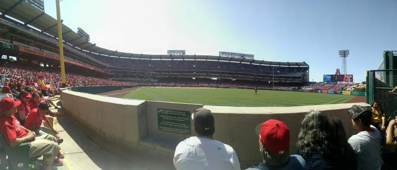Seating view for Angel Stadium Section 135 Row BB Seat 2