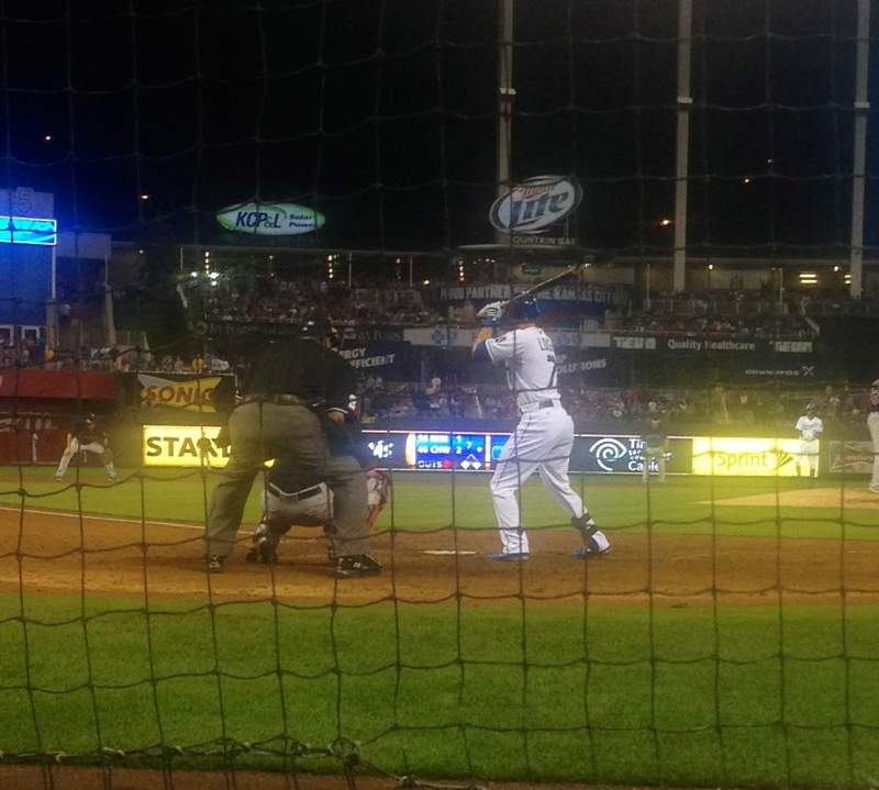 Seating view for Kauffman Stadium Section Crown 4 Row B Seat 4