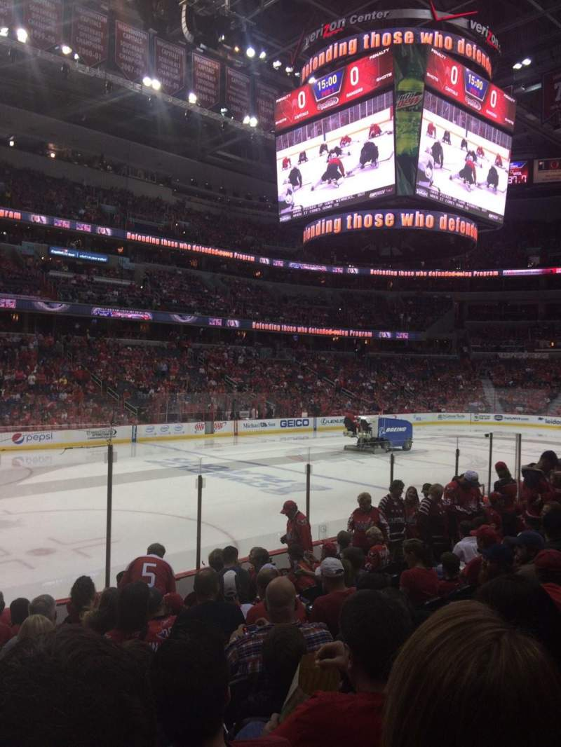 Seating view for Verizon Center Section 120 Row L Seat 1