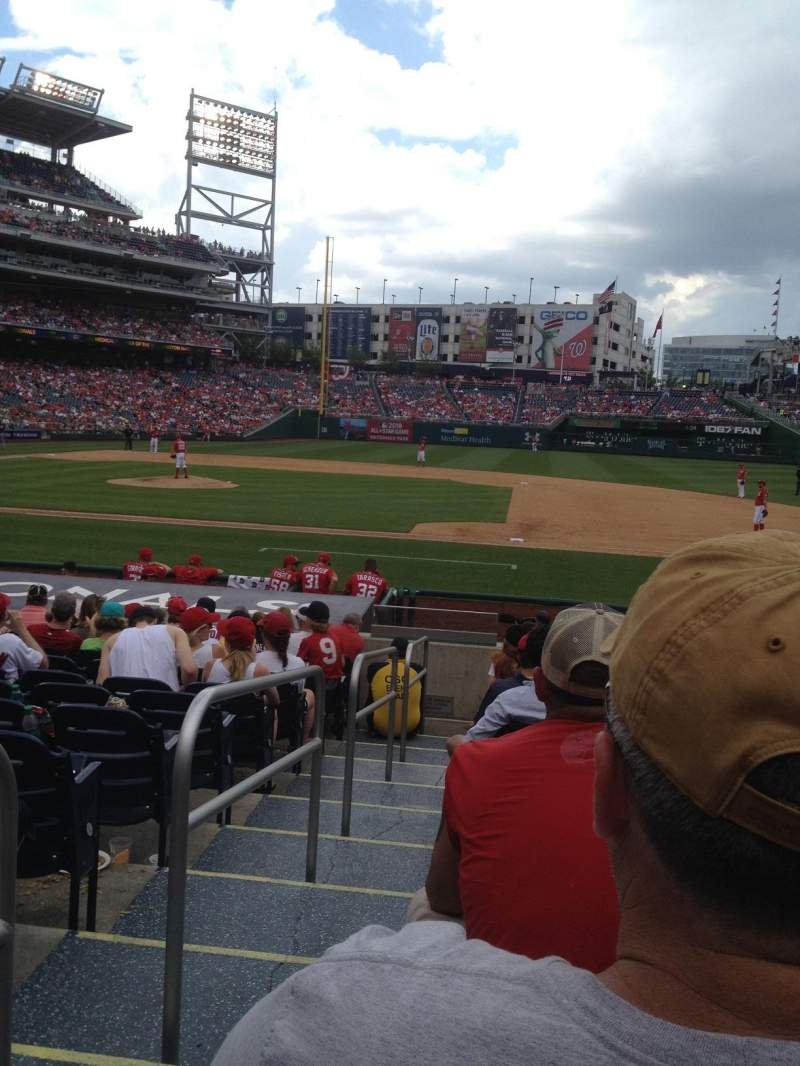 Seating view for Nationals Park Section 130 Row J Seat 18