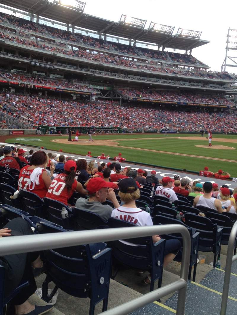 Seating view for Nationals Park Section 130 Row J Seat 130