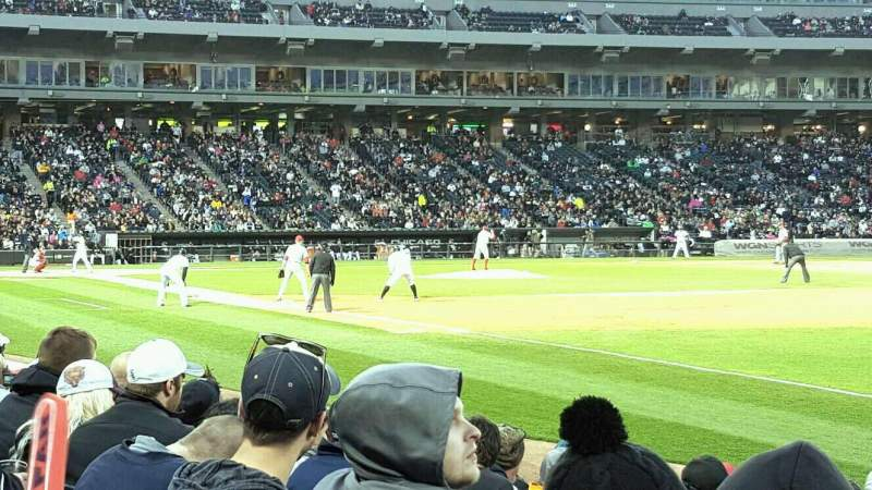 Seating view for Guaranteed Rate Field Section 116 Row 7 Seat 1
