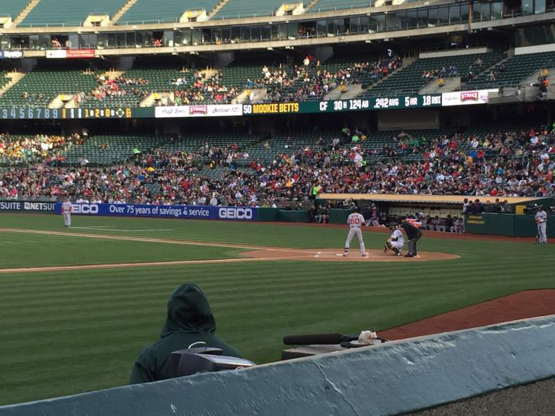 Seating view for Oakland Alameda Coliseum Section 122 Row 6 Seat 9