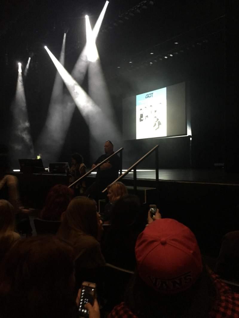 Verizon Theater, section: 101, row: G, seat: 1