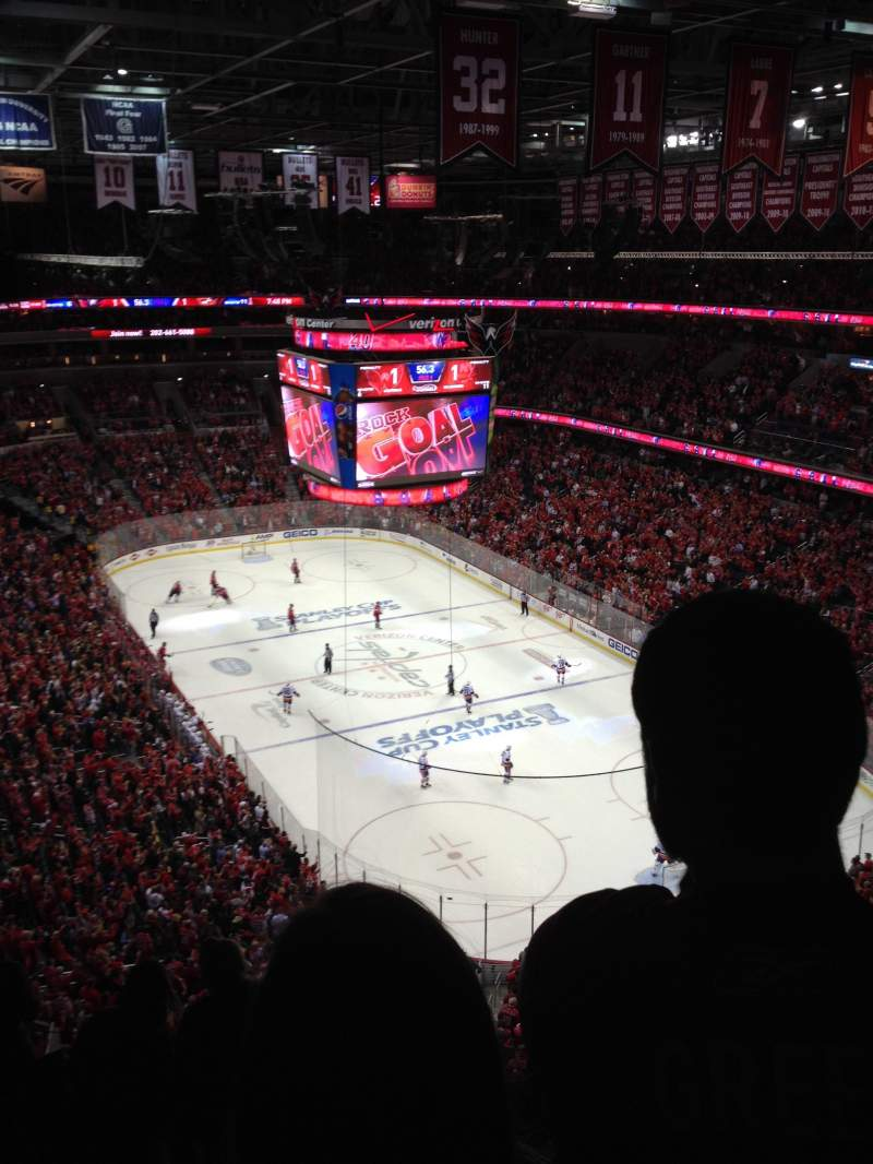 Seating view for Verizon Center Section 406 Row F
