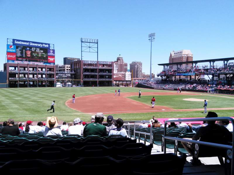 Seating view for Southwest University Park Section 120 Row S Seat 2