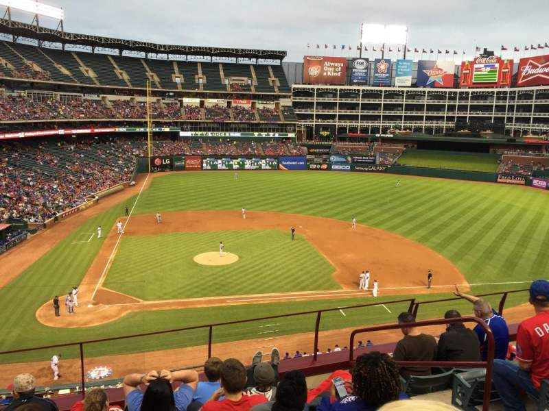Seating view for Globe Life Park in Arlington Section 231 Row 6 Seat 10