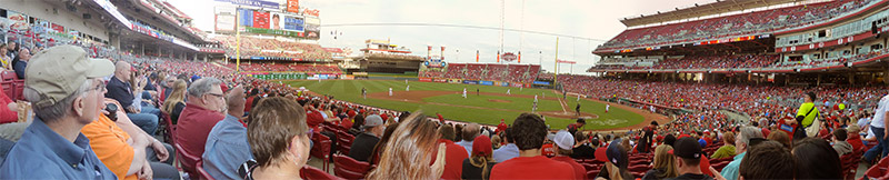 Seating view for Great American Ball Park Section 119 Row AA Seat 9