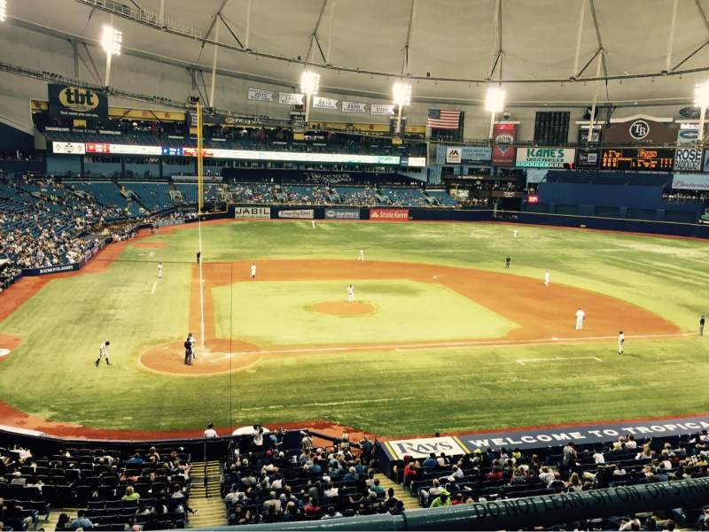 Seating view for Tropicana Field Section 208 Row B Seat 7