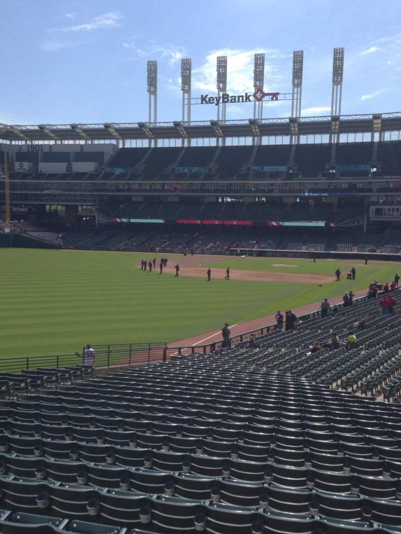 Seating view for Progressive Field Section Bar Row A-a