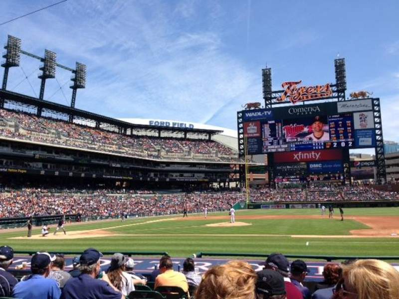 Seating view for Comerica Park Section 121 Row 15 Seat 15