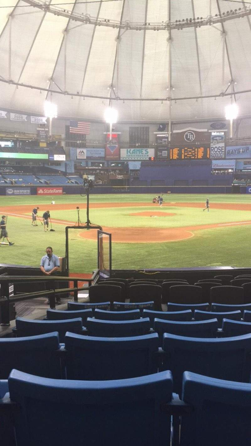 Seating view for Tropicana Field Section 102 Row S Seat 5