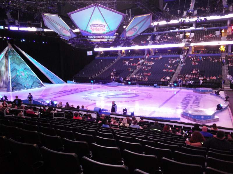Seating view for Amalie Arena Section 115 Row R Seat 3