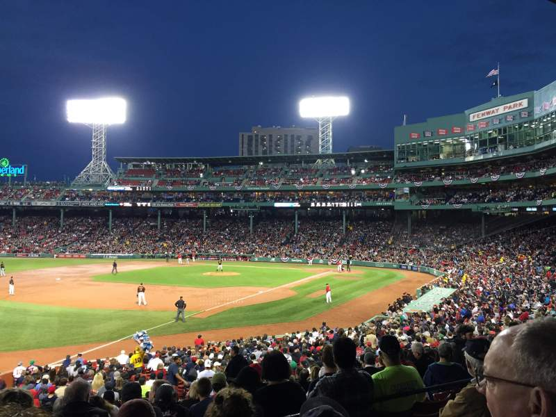 Seating view for Fenway Park Section Grandstand 31 Row 4 Seat 7