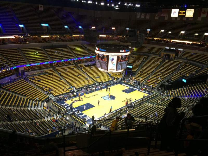 Seating view for FedEx Forum Section 220 Row N Seat 3