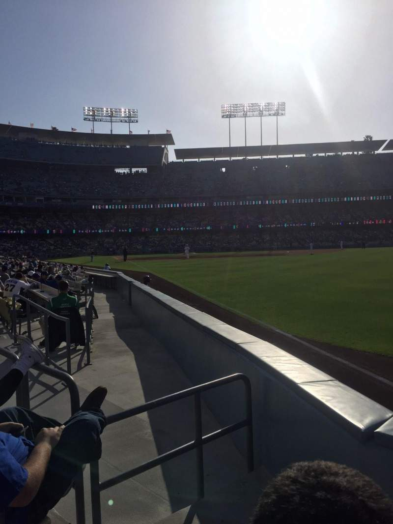 Seating view for Dodger Stadium Section 48fd Row B Seat 2